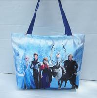 Wholesale frozen female girl messenger bag shoulder bag school bag girl tote canvas waterproof,39*11*27cm