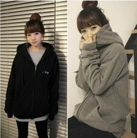 In autumn 2014 the women's college students cardigan coat wind long hooded long sleeved sweater