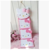 Free Shipping Kawaii Pink/Red Bow Hello Kitty Plush Long Slung Storage Bag Wall Hanging Bags Door Pocket Home Decor Novelty