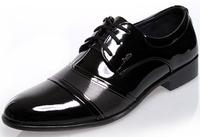 2014 New Men's Fashion Shoes Flats Men's PU Leather shoes Dress shoes Business Shoes Size:38-44 Free Shipping,XMP060