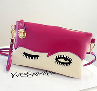 2014 new lovely big eyes latch female bag hand bag shoulder oblique cross bag
