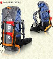 2014 Orange Leather Shoulder Baggage unisex  Camping Backpack Messenger Bags