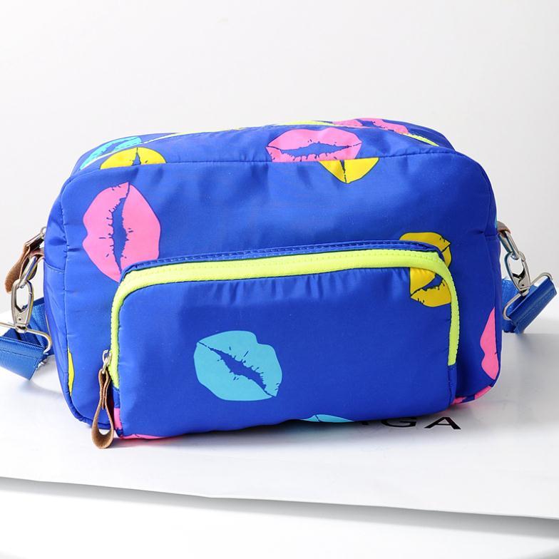 Oxford rain hit color silk flower handbag Messenger bag shoulder bags macarons trend women fashion bag multicolor(China (Mainland))