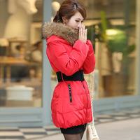 Korean Style New Women Winter Detachable Fur Collar Mid-Long Down Jacket  Warm Winter Coat  winter jacket women parka XL-4XL