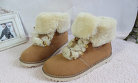 New fashion ladies snow boots / Martin boots / warm -slip snow boots for men and women free shipping