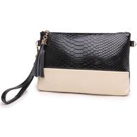 Hot Sale women handbag genuine leather bag tassel evening bags snake pattern lady day clutches women messenger bags,GX-012