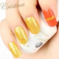 Free Ship Brand Crislish Uv Gel Polish 2014 Nail Beauty Gel Polish Set Cristina Nail UV Gel Polish 15ml Gift for You DIY Set 3