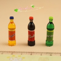 G05-X0052 children baby gift Toy 1:12 Dollhouse mini Furniture Miniature baby resin drink cover can opened 3pcs/lot