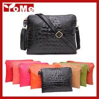 Promotion 2014 new arrival genuine leather crocodile women handbag shoulder bag messenger bag Day clutch handbag,GX-695