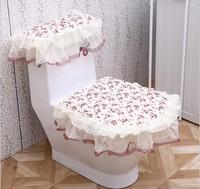 3 pieces sets Toilet mat piece set lace rustic potty pad toilet seats twinset toilet mat pad HD1001