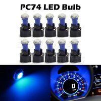 10x Blue T5 PC74 Twist Socket 37 70 Instrument Cluster Dash Led Light Bulb Kit