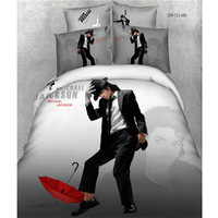 New receive printed line cotton character mike 3d bedding set 4pcs queen size line bed set  bedspread/bedclothes/duvet cover