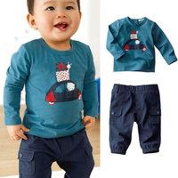 5set/lot wholesale boy kids long sleeve t-shirt pants 2pcs set ,boys clothes ,casul child clothing