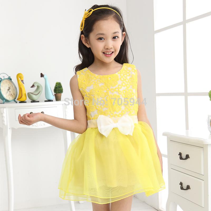 Cute Baby Girl in Yellow Dress Princess Cute Baby Girl