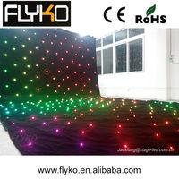 Free shipping Dmx led star curtain full color LED star cloth , 3m * 6m led cloth
