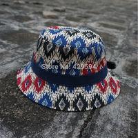Free shipping cheap and high quality custom blank aztec pattern bucket hat cap custom headwear