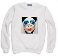Lady Gaga Applause Sweatshirt For Men Women Flocking Hoodies Lady Casual Fleece Hoody Pullover Thick Warm Winter XXXL ZY053-06