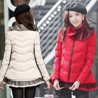 2014 plus size clothing winter outerwear wadded jacket female cotton-padded jacket down cotton-padded jacket female medium-long