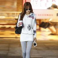 2014 autumn women set print hoodies and leggings 2 pieces  loose plus size casual women's clothing sports set