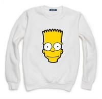 Simpson Sweatshirt For Women Men Flocking Hoodies Lady Casual Fleece Hoody Pullover Thick Moleton Feminino XXXL ZY053-09