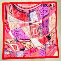 90x90cm 100% silk twill winter headband 2014 fashionable lady bandanas wraps free shipping