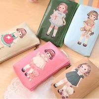 MeetU Readily doll cute doll purse bag retro cartoon phone case package Wallets,kute Coin Wallets for girls lady kids