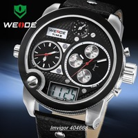 WEIDE New  LCD Dual Time Display Multi-functional Mens Analog-digital Sport Watches Brand Watch Men Big Dial Waterproof WH2305