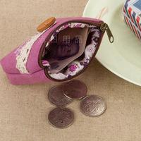 MeetU Korea creative pastoral lace cloth bag coin purse Wallets Card Pack ,Wholesale Change Purse coin case EurOK Coin Wallets