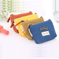 MeetU 4Pcs/lot Korea stationery retro small universe canvas coin bag purse Wallets Ms. packet