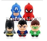 Avengers Captain America + Superman + Spiderman + Batman + Green Lantern 4GB-32GB USB 2.0 Flash Drive Memory stick Pen Car