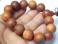 Hot - Retail / Free shipping / gift / beautiful / natural blood Long wooden beads bracelet / 16MM / 30G