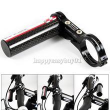 GUB G-329 Carbon Bike Bicycle Handle Bar Extender Mount Lamp Holder Black H1E1(China (Mainland))