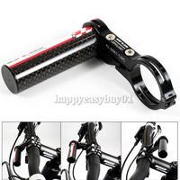 GUB G-329 Carbon Bike Bicycle Handle Bar Extender Mount Lamp Holder Black H1E1