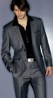 bespoke suit 2014 ! wedding suits for men custom made groom wear gray for man wool free shipping