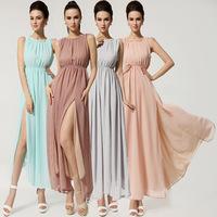 Hot sale 2014 fashion dress maxi long dress women graceful printed beach dresses Bohemian style size s m l xl