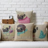 Cute ugly dog  Creative Animals Puppy cartoon Linen pillow cover cushion cover Square Pillowcases Home Decor sofa cushions