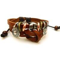 Fashion poker and cross pattern leather bracelet Multilayer knitting bracelet Women jewelry man jewelry