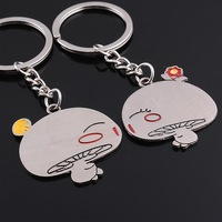 FreeshipbyEMS wholesal 150pc  mushroom Innovative novelty lover couple Keychain Souvenir promo wedding favor gift trinket 9898