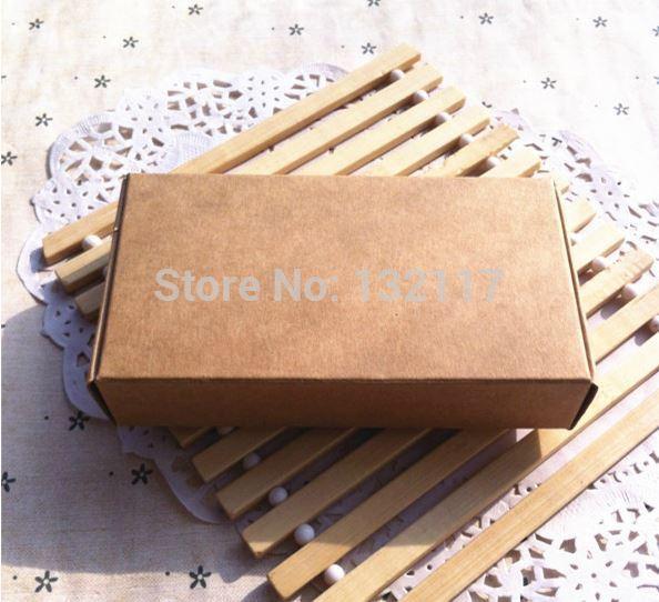 Wholesale 100pcs/lot 13.3*6.8*1.8cm Brown Carton Kraft Box, Gift Packing Boxes, Soap Packaging, Storage Item free shipping(China (Mainland))
