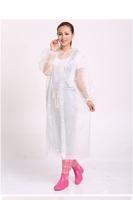 PEVA wrapping adult raincoat waterproof fashion customization raincoat poncho