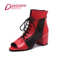 Brand Dance Legend New Fashion Women Breathable Leather high-top Dance Shoes Tango /Flamenco / Square Dance Flats Latin Slipers