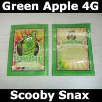 Free shipping,Scooby snax green apple 4g empty zip lock bags,zipper bags