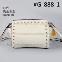 casual bag dashion women bag lady shoulder bags zipper crossbody bags solid handbag rivet daypacks 1pcs wholesale free shipping