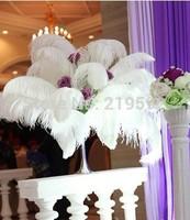 HOT ! 100pcs/lot 15-20CM WHITE Ostrich Feather Plume wedding decoration wedding feather, feather decoration