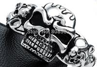 100g Knight punk rock skull bracelet