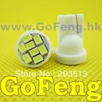 4000pcs/lot white led T10 8 led smd 8SMD194 168 192 W5W 3020smd super bright Auto led car lighting wedge