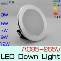 10x3w 5w 7w 9w 12w Hot sales SMD5730 LED Lamps  Led Downlights 110v/120v/220v/230v/240v LED lights White/Warmwhite Free Shipping