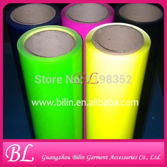 Hot Sale Chinese Quality Fluorescence PU Heat Transfer Film(China (Mainland))