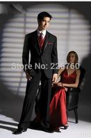 Wholesale - black Wedding Party Groom wear Suit Men Tuxedos (jacket +pants)