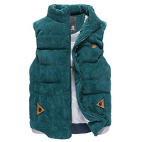 New arrivals free shipping leisure cotton vest keep warm men's vest jacket 3 color M L XL XXL